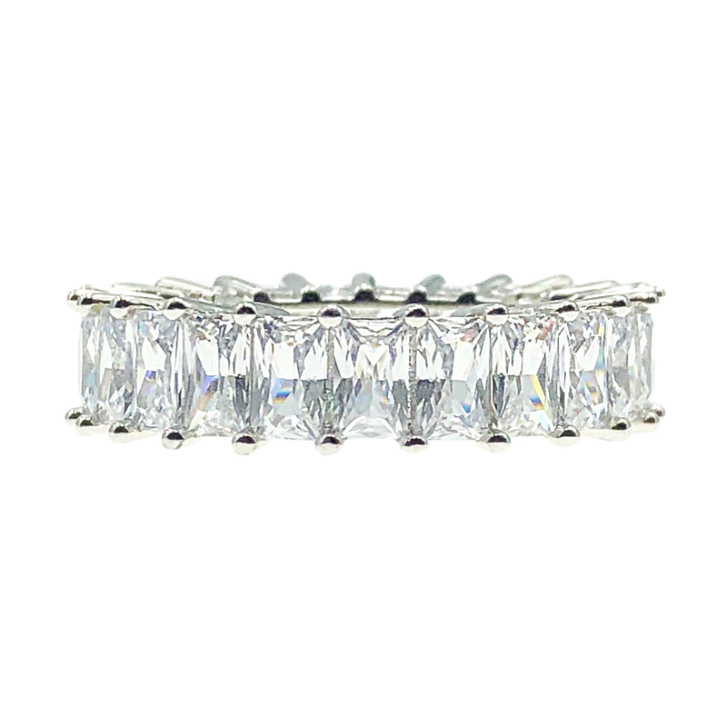 Radiant Cut Eternity Band Ring