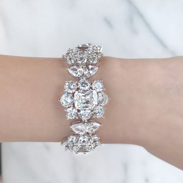 Flower Diamondesque Bracelet