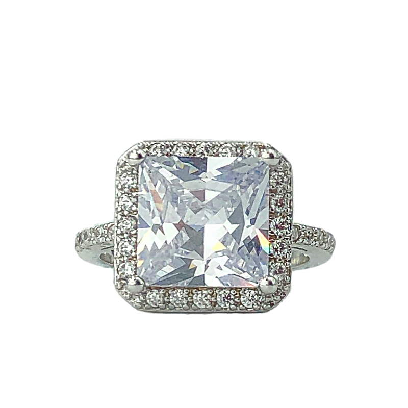 Square Solitaire Ring