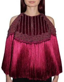 Ruby Fringe Cape