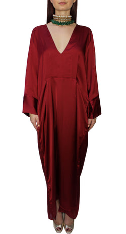 Ruby Silk Kaftan