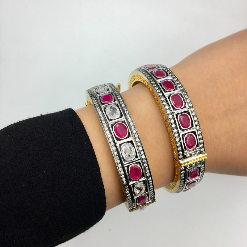 Ruby Zircon Bangle