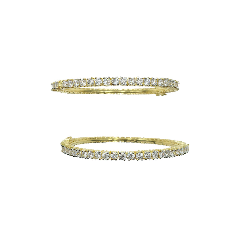 Solitaire Clasp Bangle