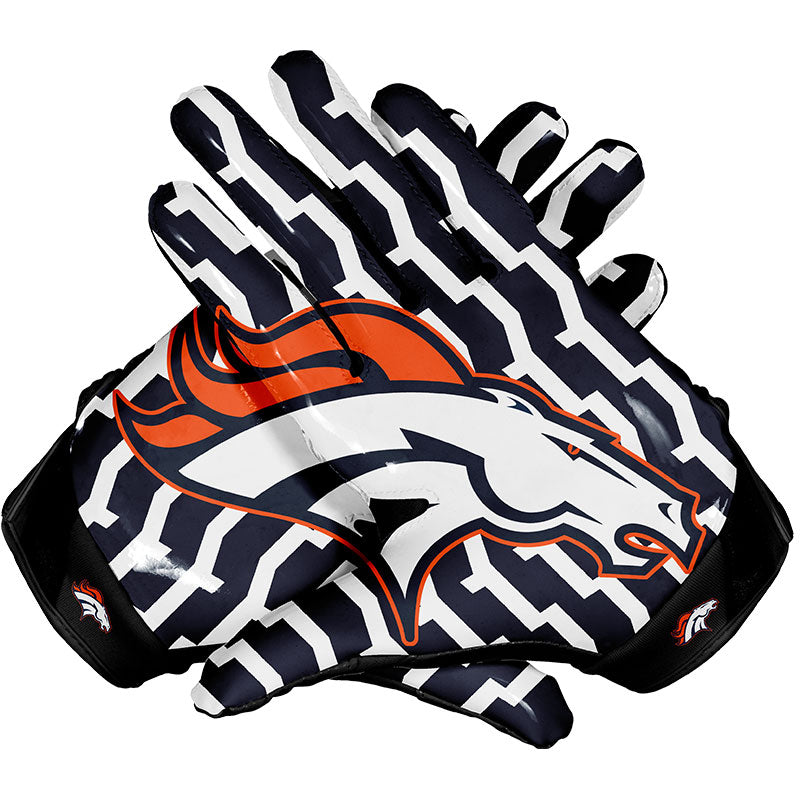 denver broncos football gloves