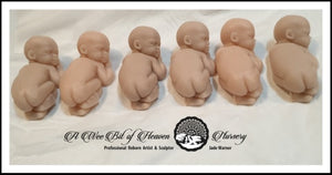 Mini Silicone baby Sculpted by Ros Schramm -Un painted kit