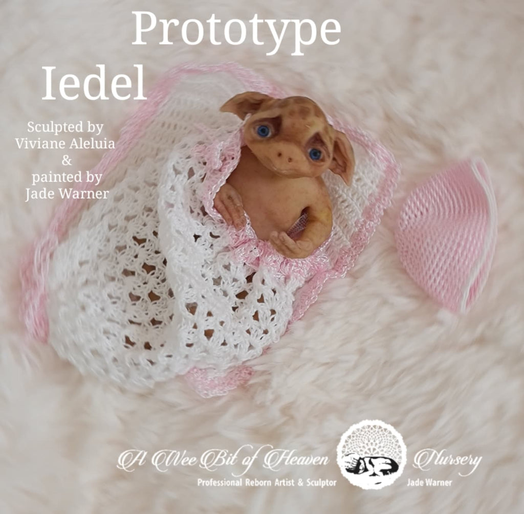 Iedel  Forest Mythical Creature Full Body Silicone baby by Viviane Aleluia