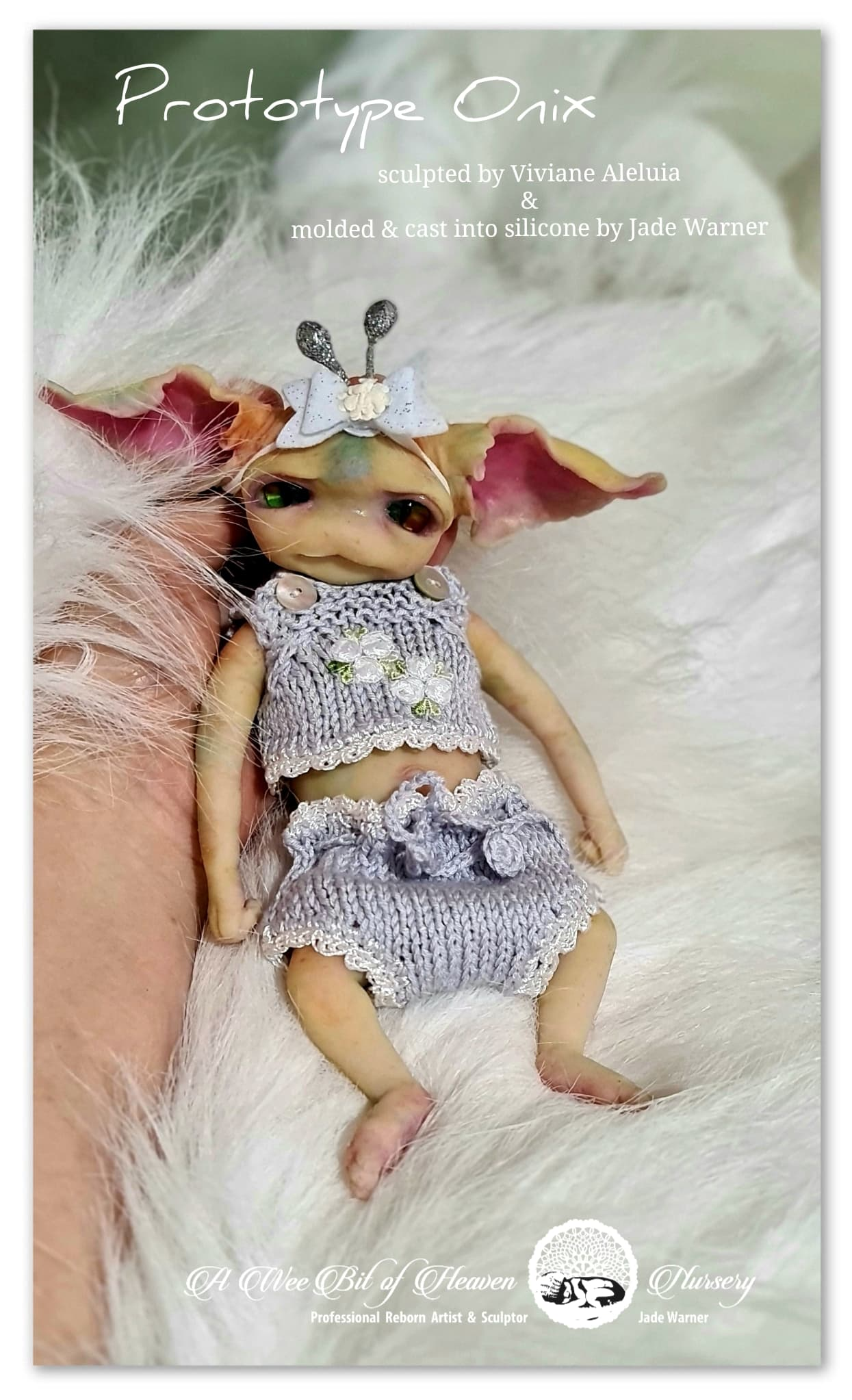 Onix Forest Mythical Creature Full Body Silicone baby by Viviane Aleluia