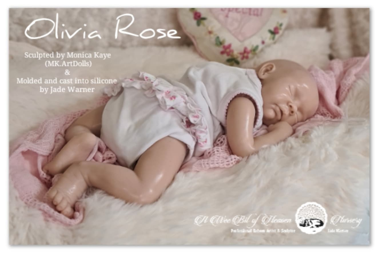 Olivia Rose Cloth Body Silicone Baby Sculpted by Monica Kaye (MK.ArtDolls)