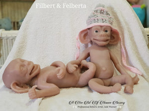 Unpainted Kit Silicone Full Body Baby Chimp Felberta