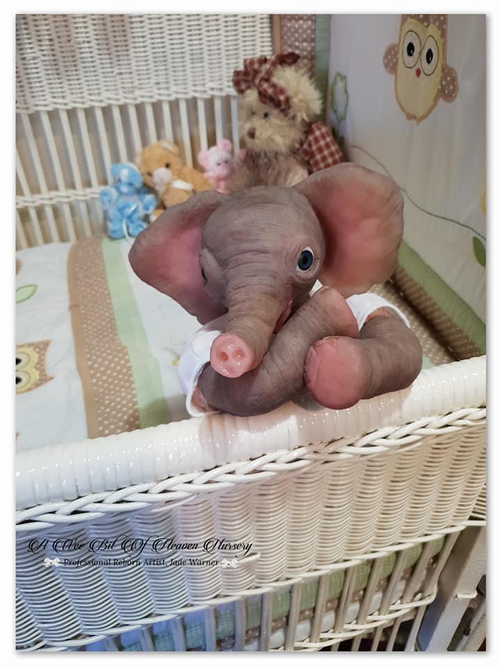 Silicone  Baby Elephant  Peaches- Complete- DEPOSIT ONLY