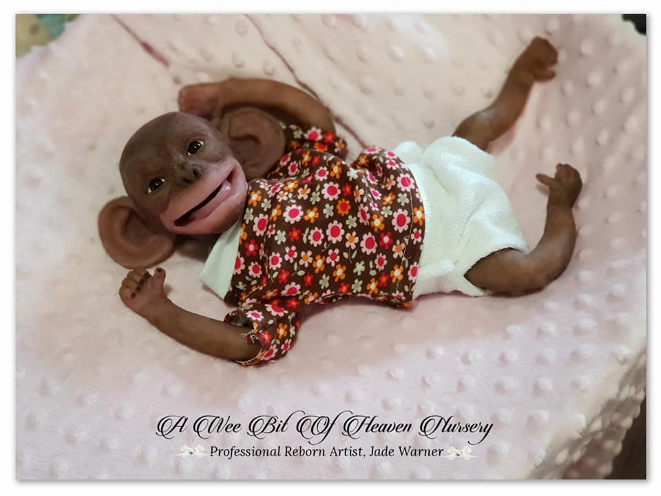Silicone Full Body Baby Chimp Felberta -Completed-DEPOSIT ONLY