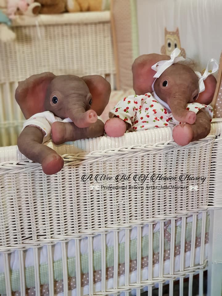 Silicone  Baby Elephant  Peaches-
