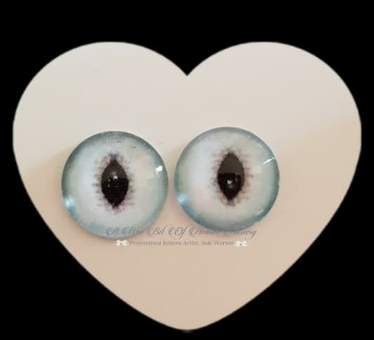 Fantasy Glass Cabochon  Hand Printed Eyes -size 18mm- #PR3