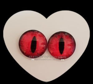 Fantasy Glass Cabochon  Hand Printed Eyes -size 18mm- #PR12