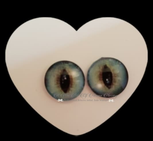 Fantasy Glass Cabochon  Hand Printed Eyes -size 18mm- #PR6