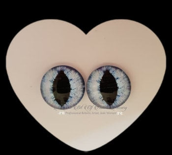 Fantasy Glass Cabochon  Hand Printed Eyes -size 20mm- #PR2