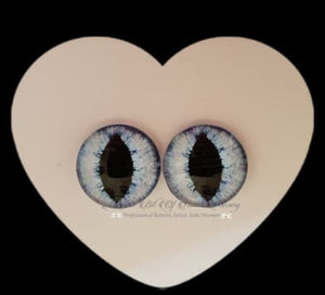 Fantasy Glass Cabochon  Hand Printed Eyes -size 18mm- #PR2
