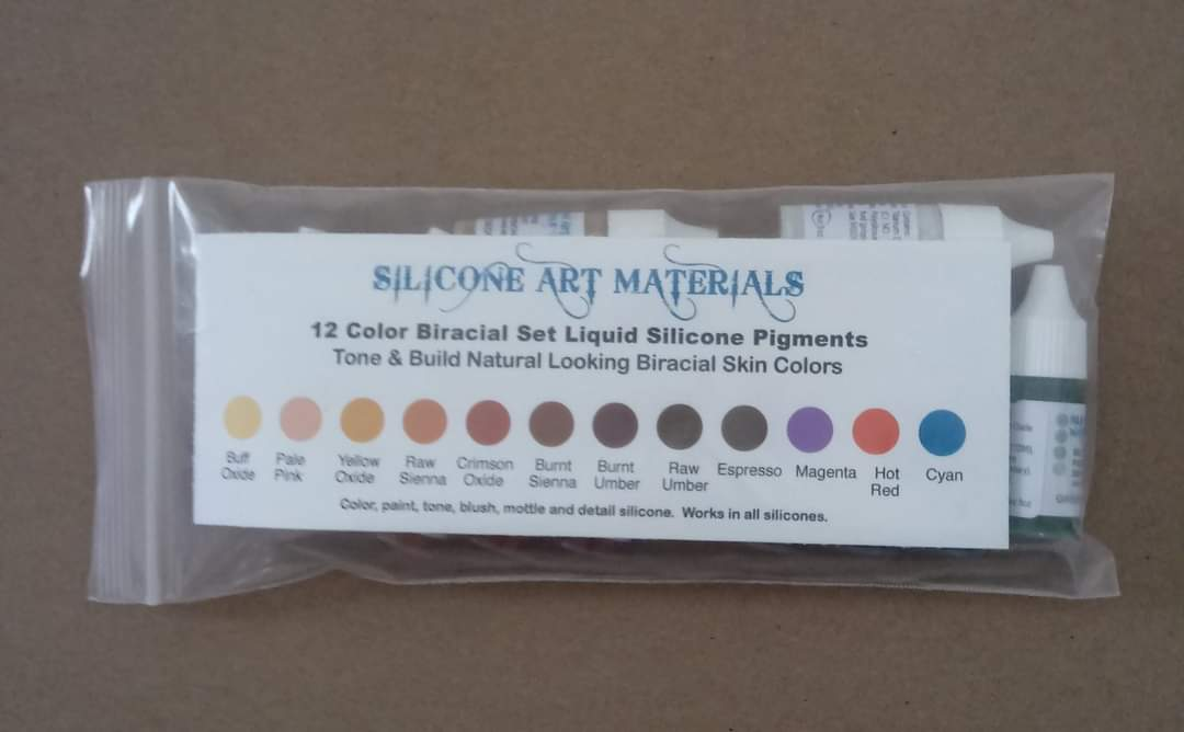Biracial Silicone pigment Set - 12 Colours