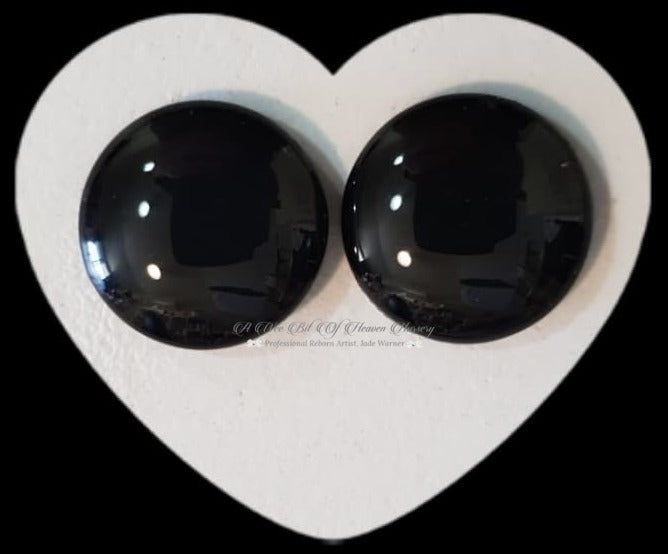 Hand Painted Fantasy Glass Eyes 18mm Black