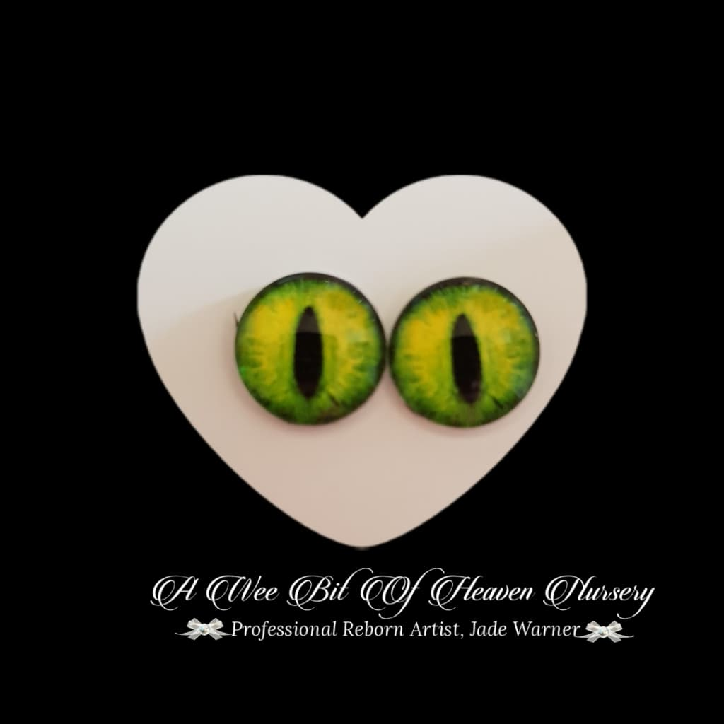 Fantasy Glass Cabochon  Hand Printed Eyes -size 18mm- #PR10