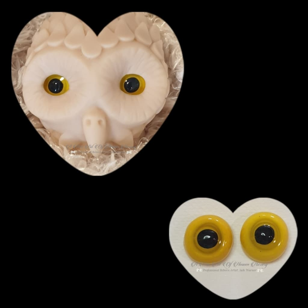 Clay/Resin size 18mm #2 Yellow Owl