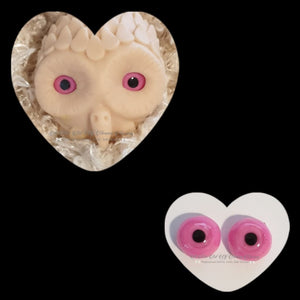 Clay/Resin size 18mm #6 Pink Owl
