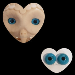 Clay/Resin size 18mm #7 Blue Owl