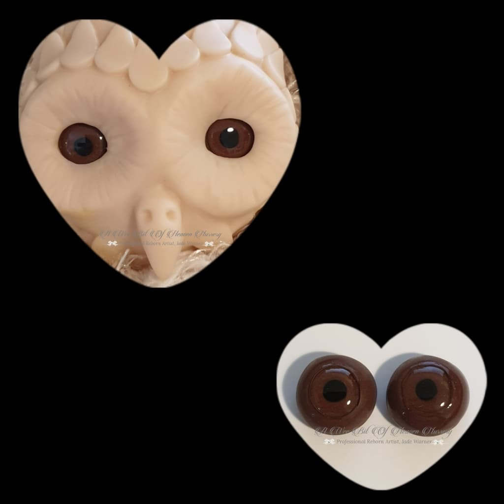 Clay/Resin size 18mm #8 Brown Owl