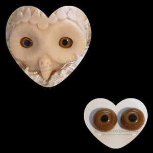 Clay/Resin size 18mm #9 Lt Brown Owl