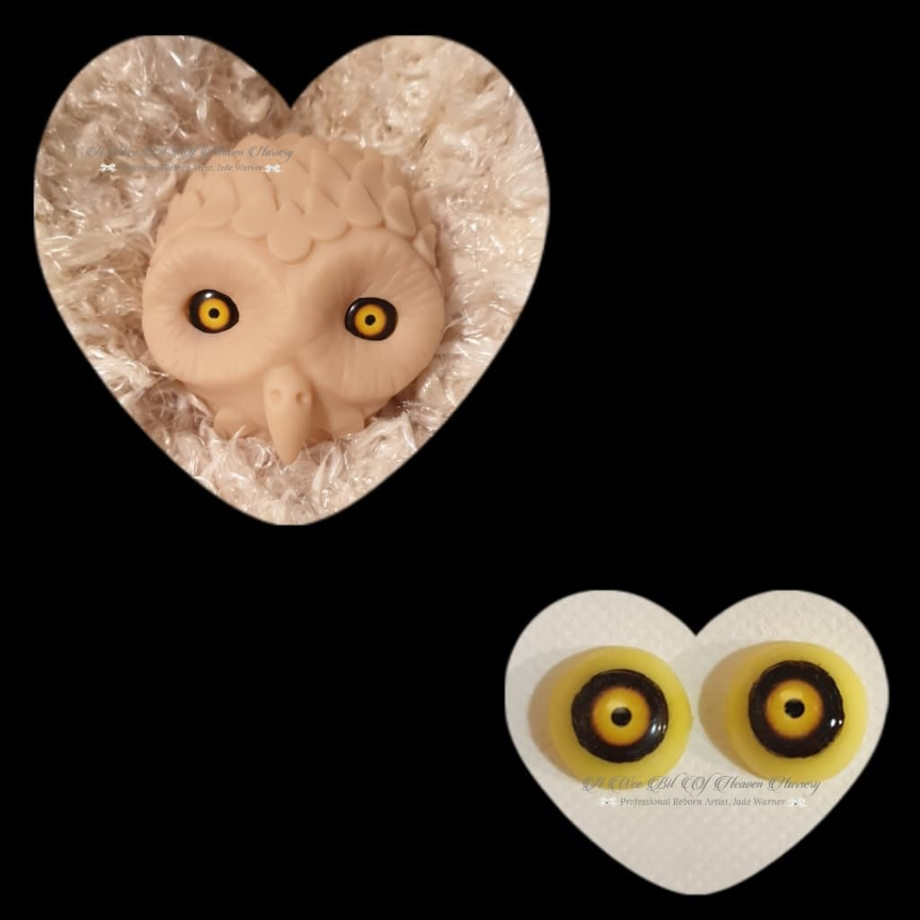 Resin size 18mm #1 Yellow/Brown Owl