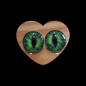 Fantasy Glass Cabochon  Hand Printed Eyes -size 18mm- #PR1b