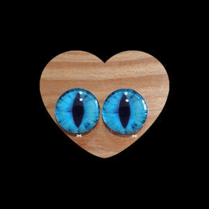 Fantasy Glass Cabochon  Hand Printed Eyes -size 18mm- #PR11d