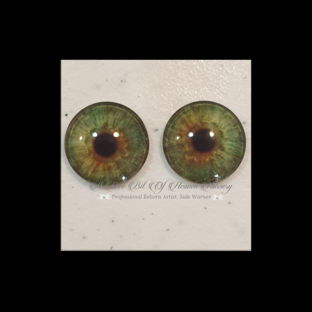 Fantasy Glass Cabochon  Hand Printed Eyes -size 18mm- #PR55