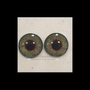 Fantasy Glass Cabochon  Hand Printed Eyes -size 18mm- #PR63