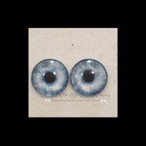 Fantasy Glass Cabochon  Hand Printed Eyes -size 18mm- #PR68
