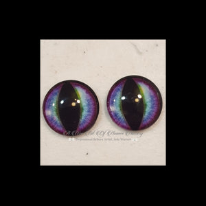 Fantasy Glass Cabochon  Hand Printed Eyes -size 18mm- #PR70