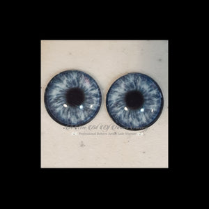 Fantasy Glass Cabochon  Hand Printed Eyes -size 20mm- #PR80