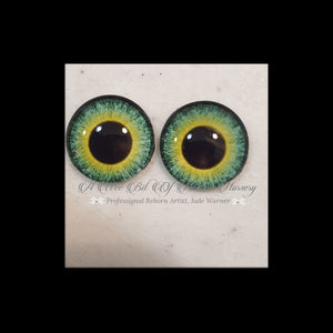 Fantasy Glass Cabochon  Hand Printed Eyes -size 18mm- #PR107