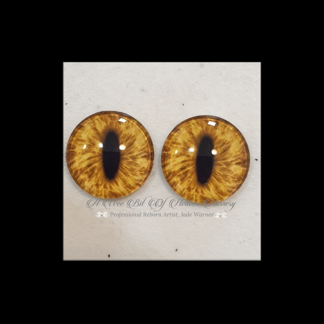Fantasy Glass Cabochon  Hand Printed Eyes -size 18mm- #PR110