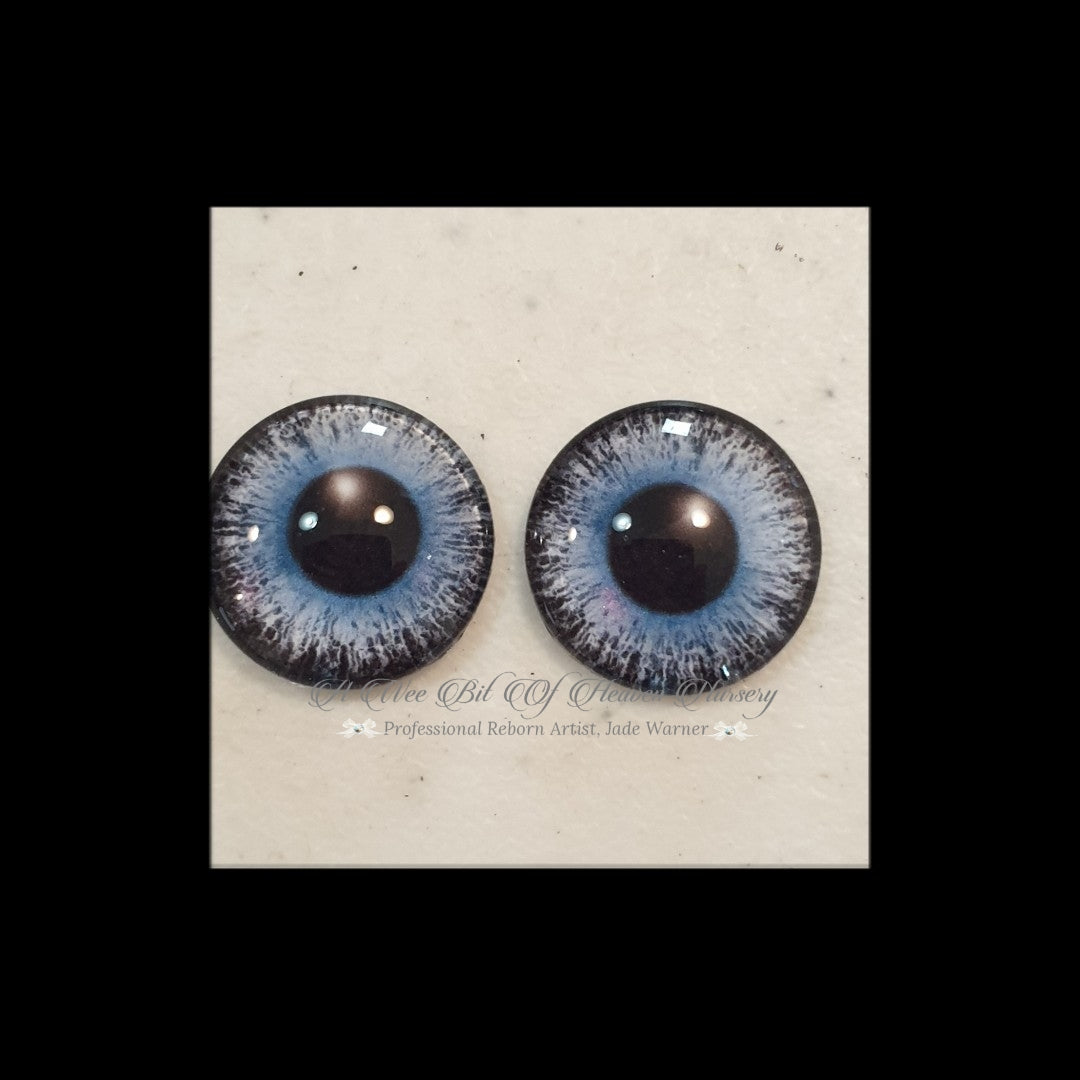 Fantasy Glass Cabochon  Hand Printed Eyes -size 18mm- #PR111