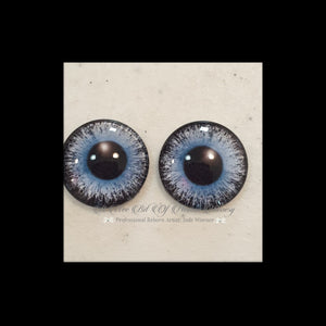Fantasy Glass Cabochon  Hand Printed Eyes -size 20mm- #PR111