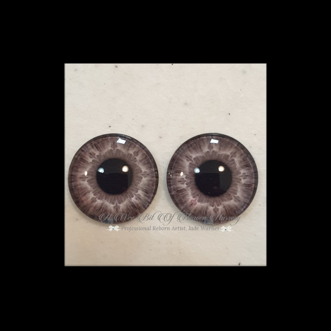 Fantasy Glass Cabochon  Hand Printed Eyes -size 18mm- #PR113