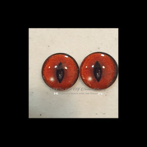 Fantasy Glass Cabochon  Hand Printed Eyes -size 18mm- #PR57
