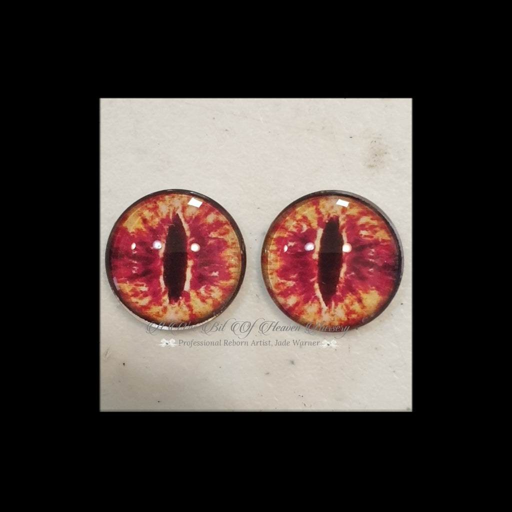 Fantasy Glass Cabochon  Hand Printed Eyes -size 20mm- #CD47