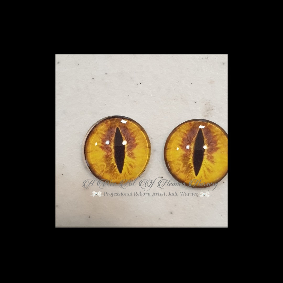 Fantasy Glass Cabochon  Hand Printed Eyes -size 18mm- #CD19