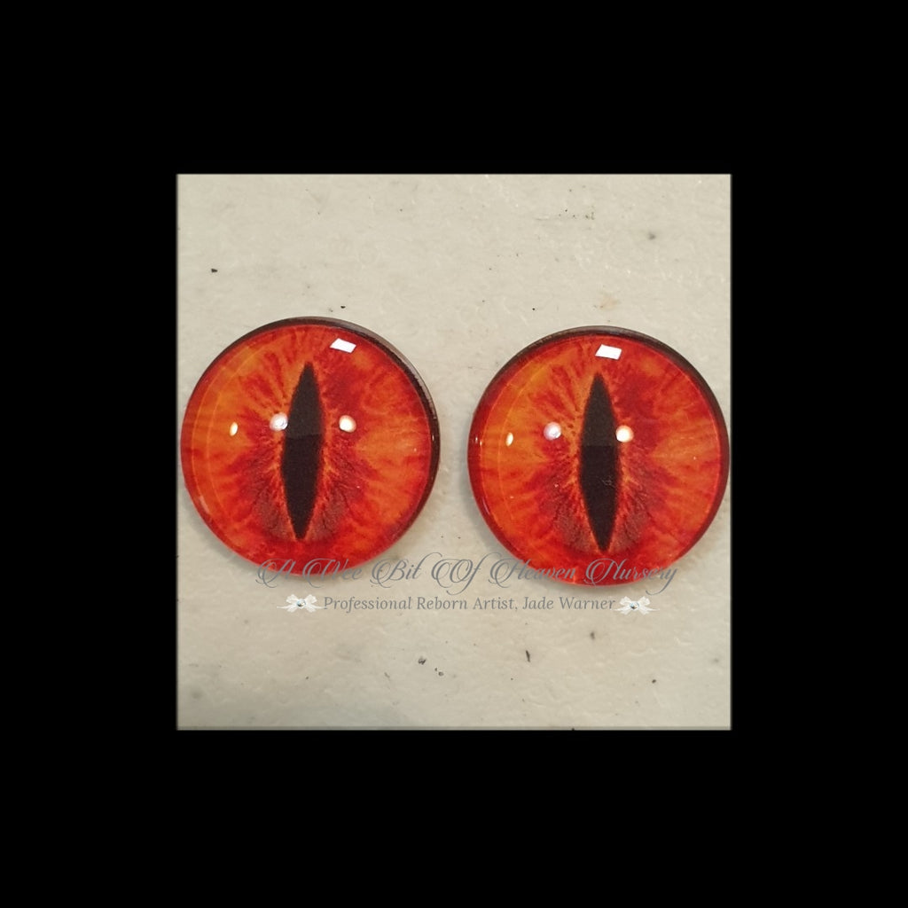 Fantasy Glass Cabochon  Hand Printed Eyes -size 18mm- #CD1