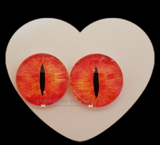 Fantasy Glass Cabochon  Hand Printed Eyes -size 18mm- #PR14