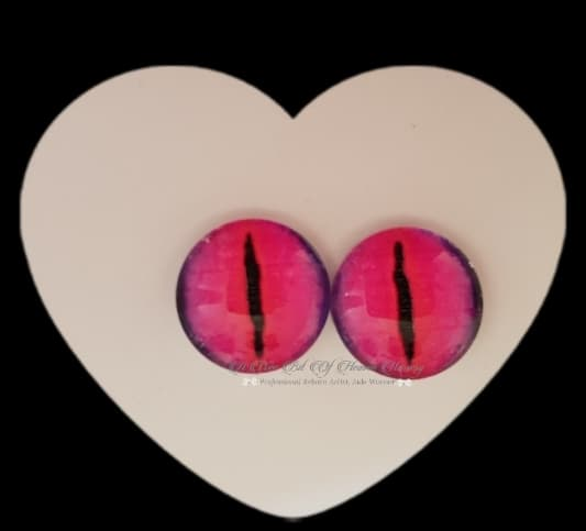 Fantasy Glass Cabochon  Hand Printed Eyes -size 18mm- #PR15