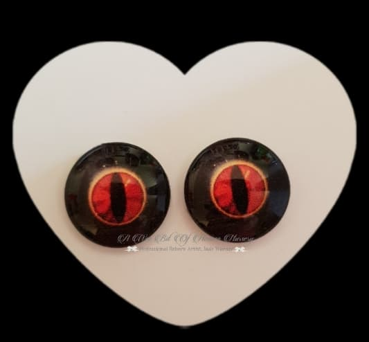 Fantasy Glass Cabochon  Hand Printed Eyes -size 18mm- #PR17