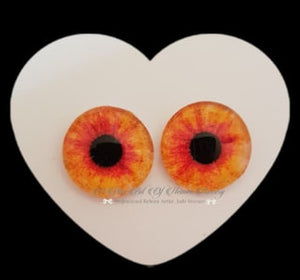 Fantasy Glass Cabochon  Hand Printed Eyes -size 20mm- #PR20